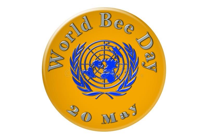 La célébration internationale des Nations Unies, abeille D du monde illustration libre de droits