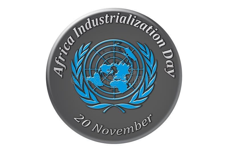 La célébration internationale des Nations Unies, Afrique illustration stock