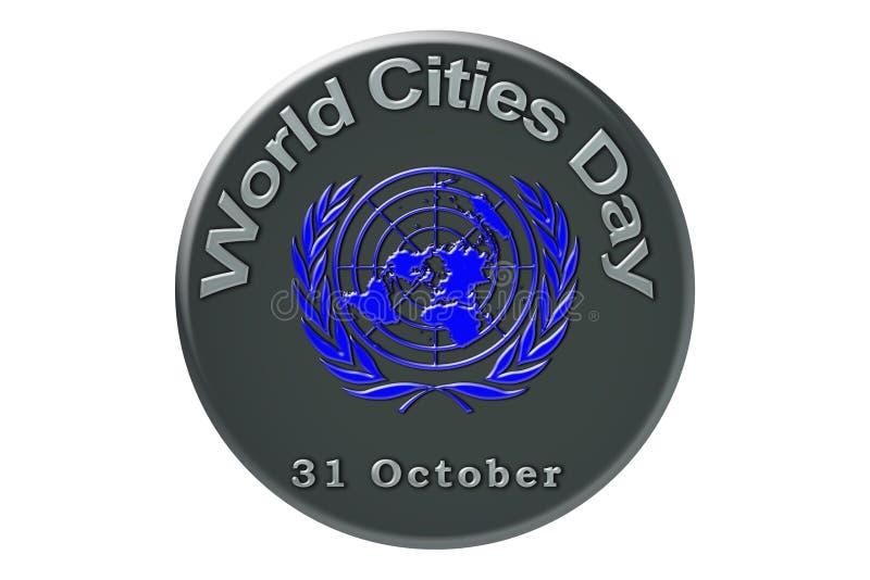 La célébration internationale des Nations Unies, ci du monde illustration stock