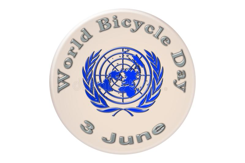 La célébration internationale des Nations Unies, monde Bicyc illustration stock