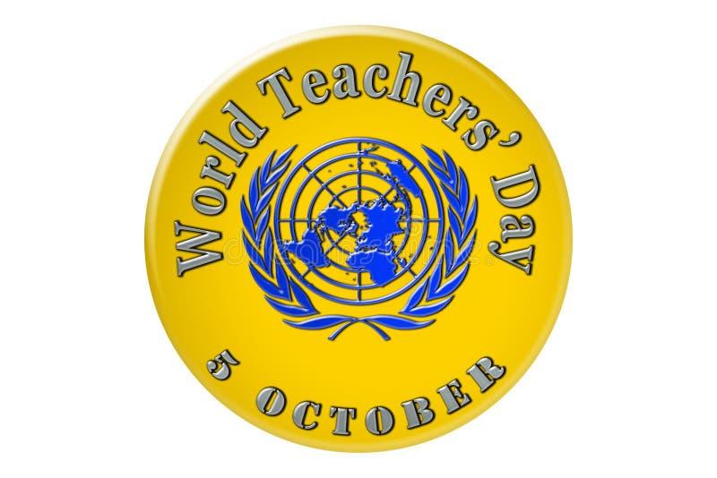 La célébration internationale des Nations Unies, monde enseignent illustration stock