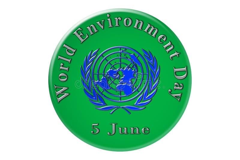 La célébration internationale des Nations Unies, monde Envir illustration de vecteur
