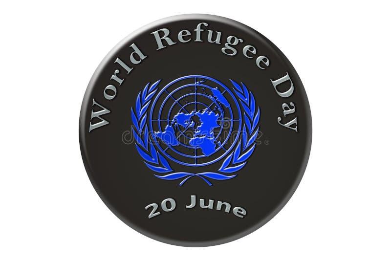 La célébration internationale des Nations Unies, monde Refug illustration de vecteur
