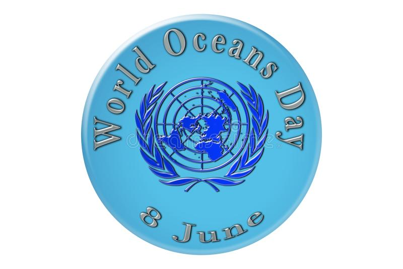 La célébration internationale des Nations Unies, océan du monde illustration de vecteur