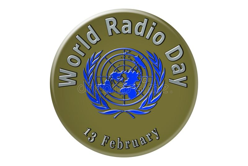 La célébration internationale des Nations Unies, radio du monde illustration de vecteur