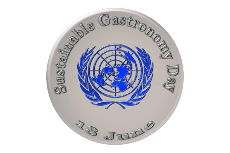 La célébration internationale des Nations Unies, viable illustration libre de droits