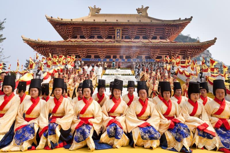 La cérémonie de Confucius, Chine photographie stock