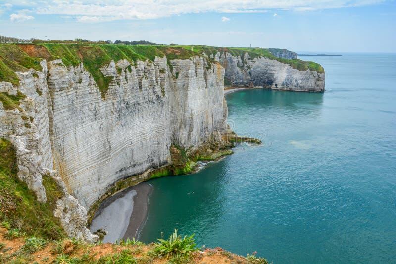 La côte d'albâtre d'Etretat, Normandie, France photos libres de droits