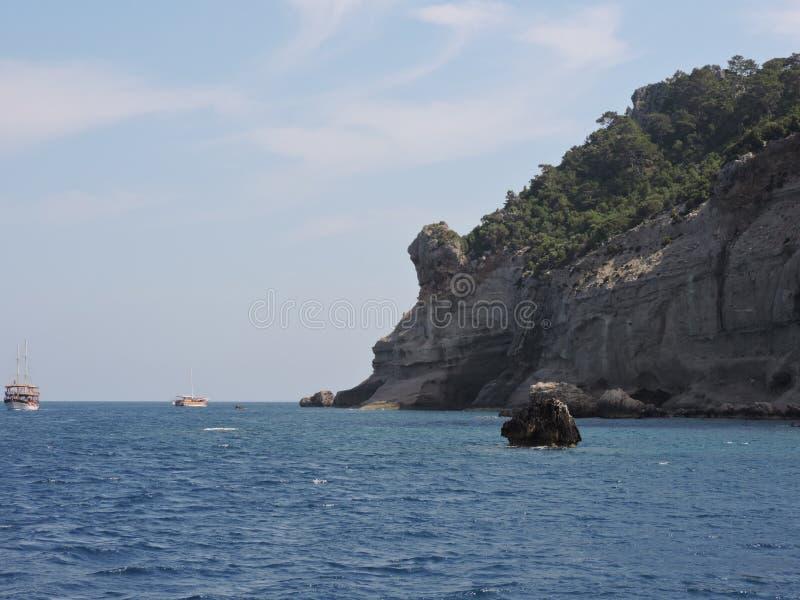 La côte de la mer Méditerranée photos stock