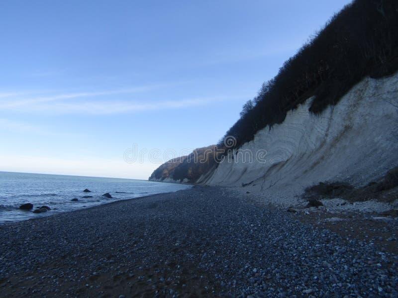 La côte kreidefelsen photographie stock