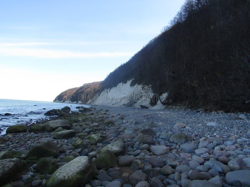 La côte kreidefelsen photo libre de droits