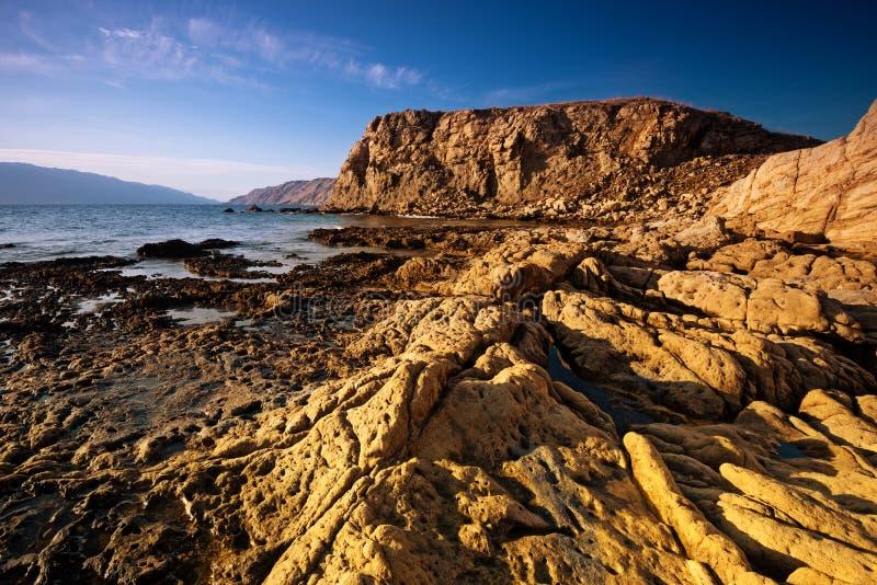 La côte croate - Rab Island, Lopar photographie stock