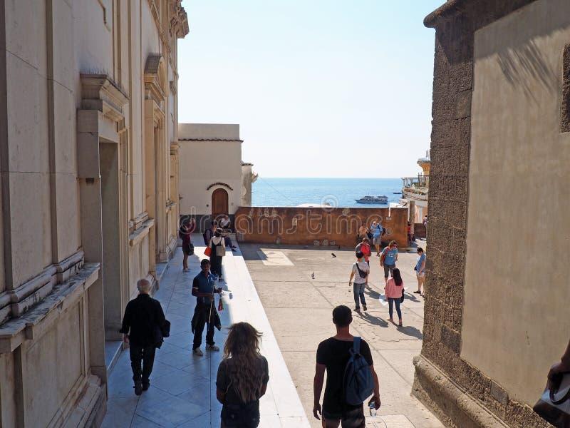 La côte d'Amalfi image libre de droits