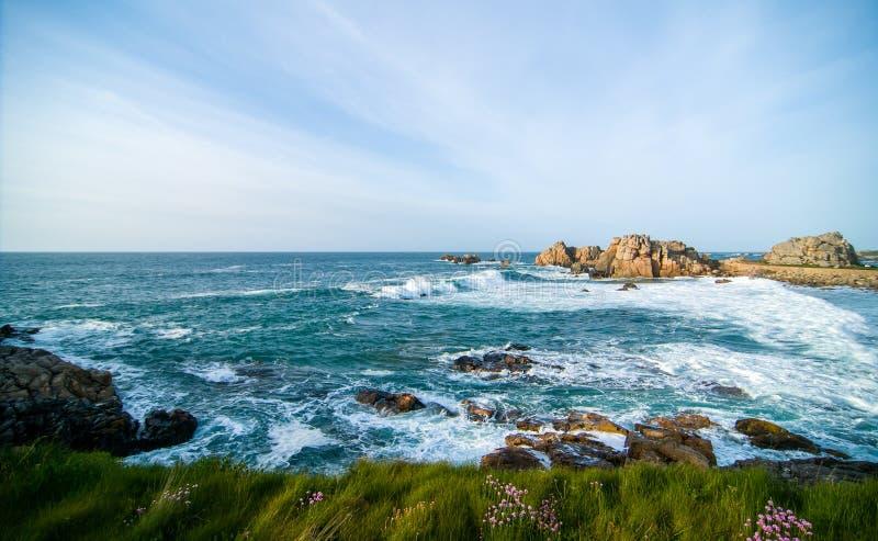 La côte de la Bretagne photos stock