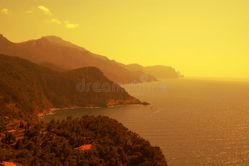 La côte de la mer Méditerranée photographie stock libre de droits