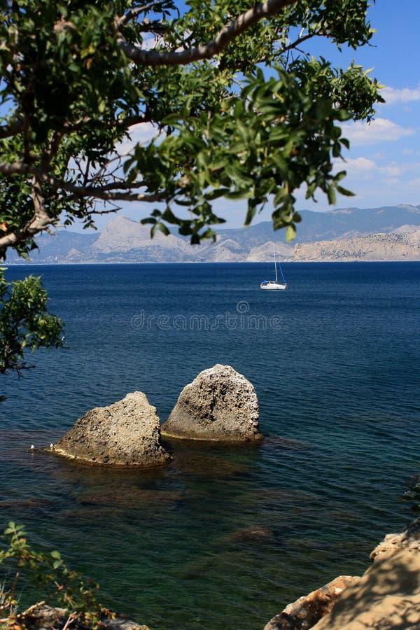 La côte de la Mer Noire image libre de droits