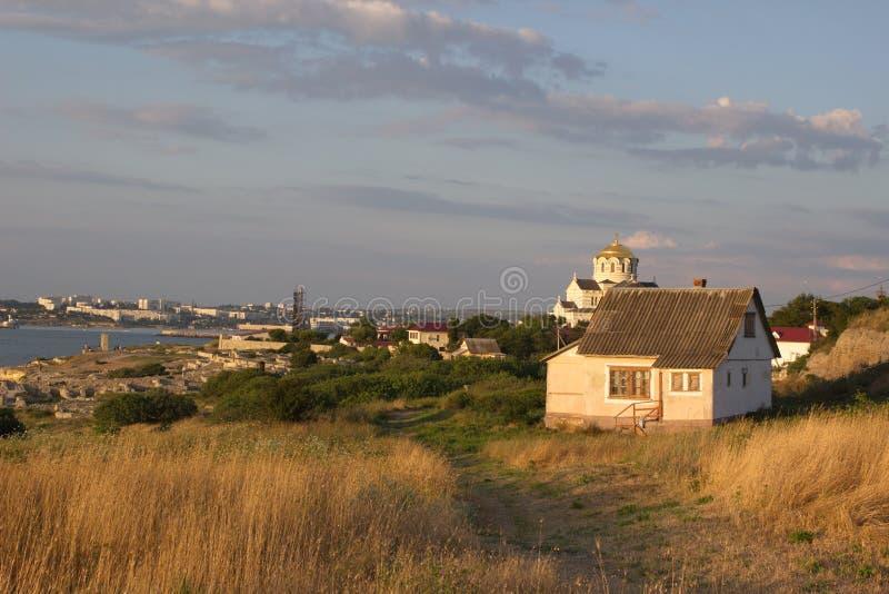 La côte de la ville de Sébastopol photographie stock