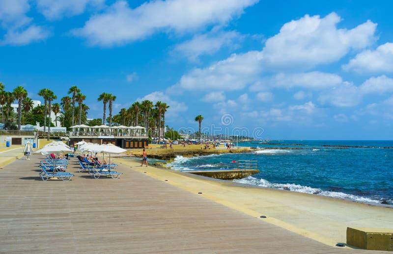 La côte de Paphos photos stock