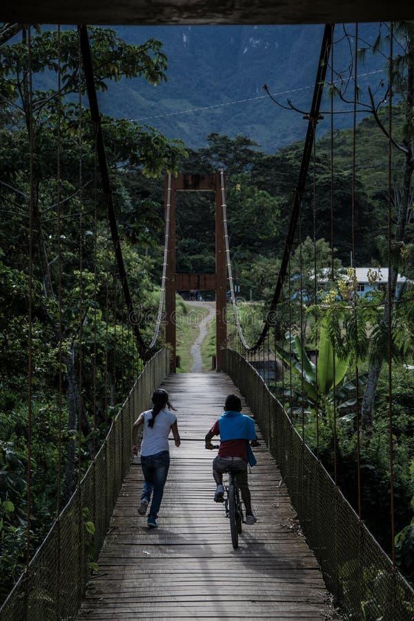 La Cañera del ponte pedonale fotografia stock libera da diritti