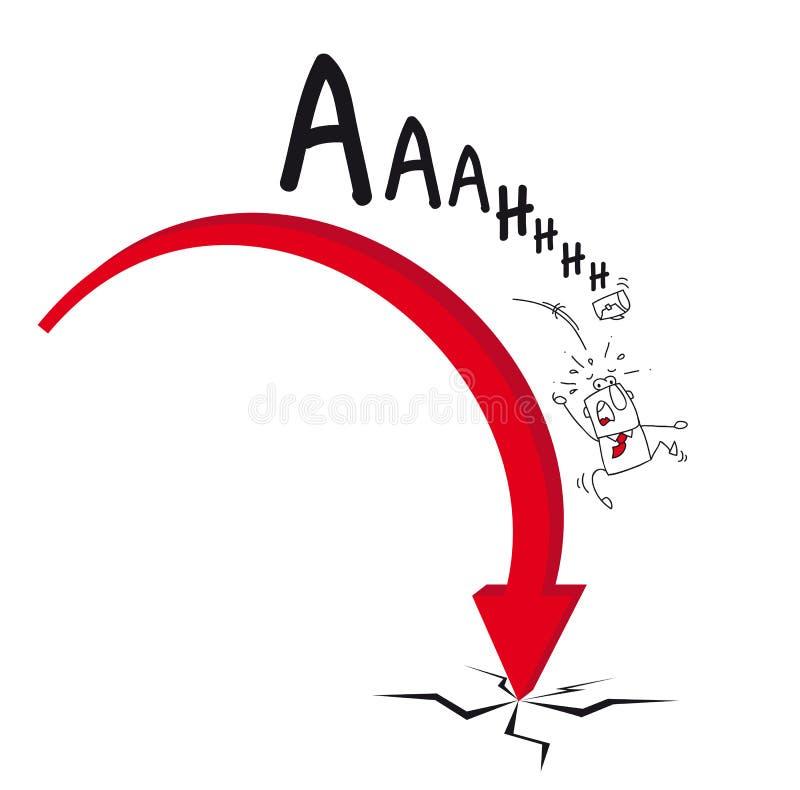 La caída ilustración del vector