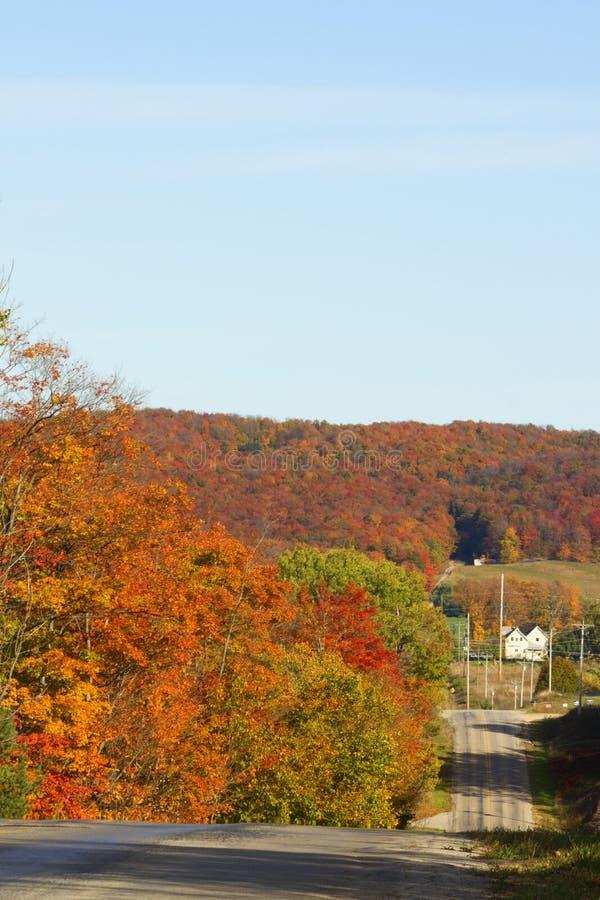 La caída colorea abajo de una carretera nacional foto de archivo libre de regalías