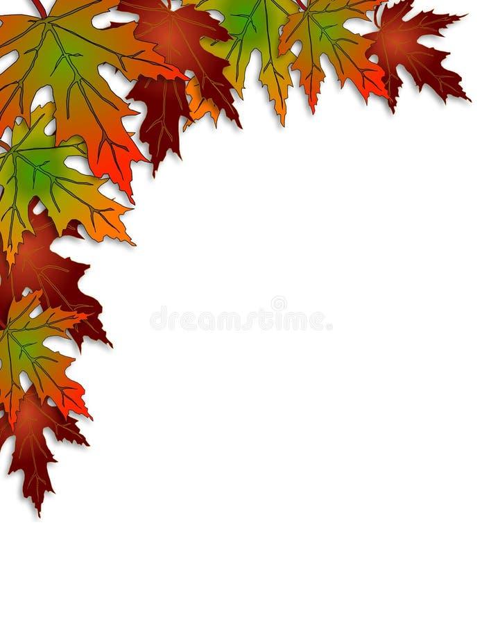 La caída deja diseño de la esquina colorido imagen de archivo