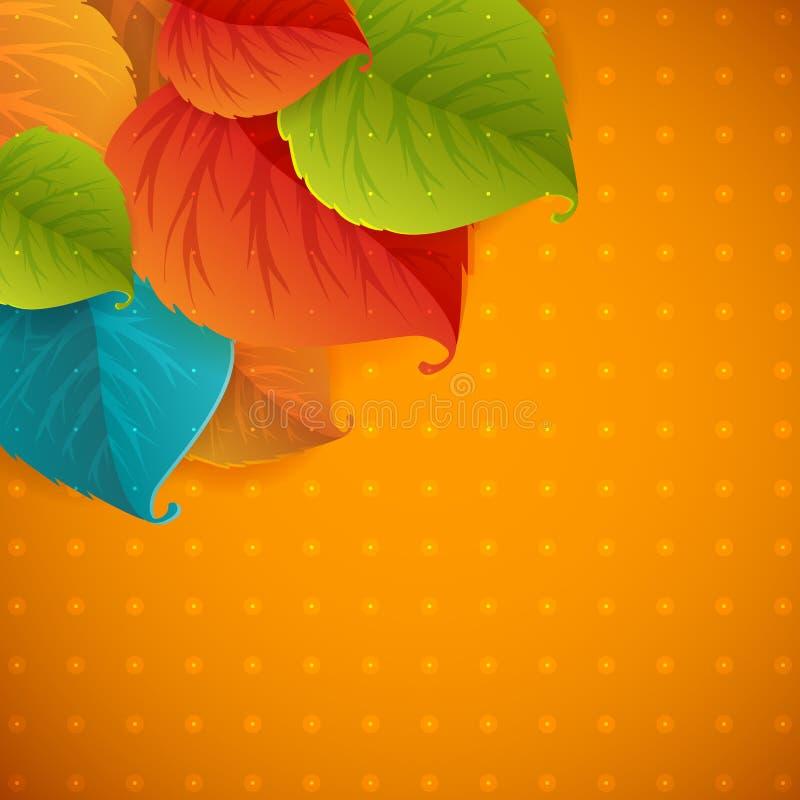 La caída del extracto del otoño deja el fondo de la TRAMA ilustración del vector