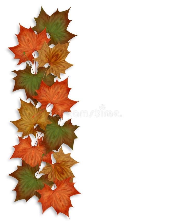 La caída del otoño deja la frontera stock de ilustración