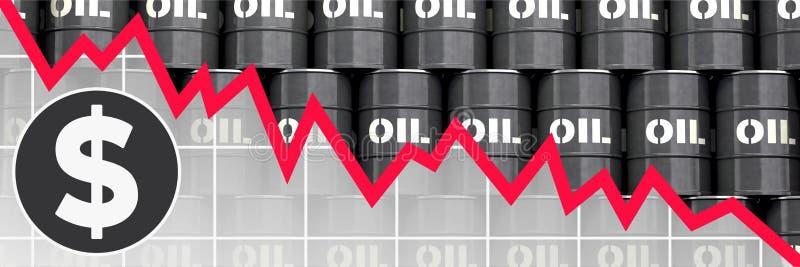 La caída del precio del petróleo fotografía de archivo libre de regalías
