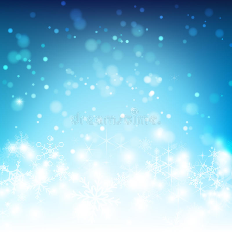 La caída y la iluminación abstractas de la nieve del fondo vector el ejemplo 0 libre illustration
