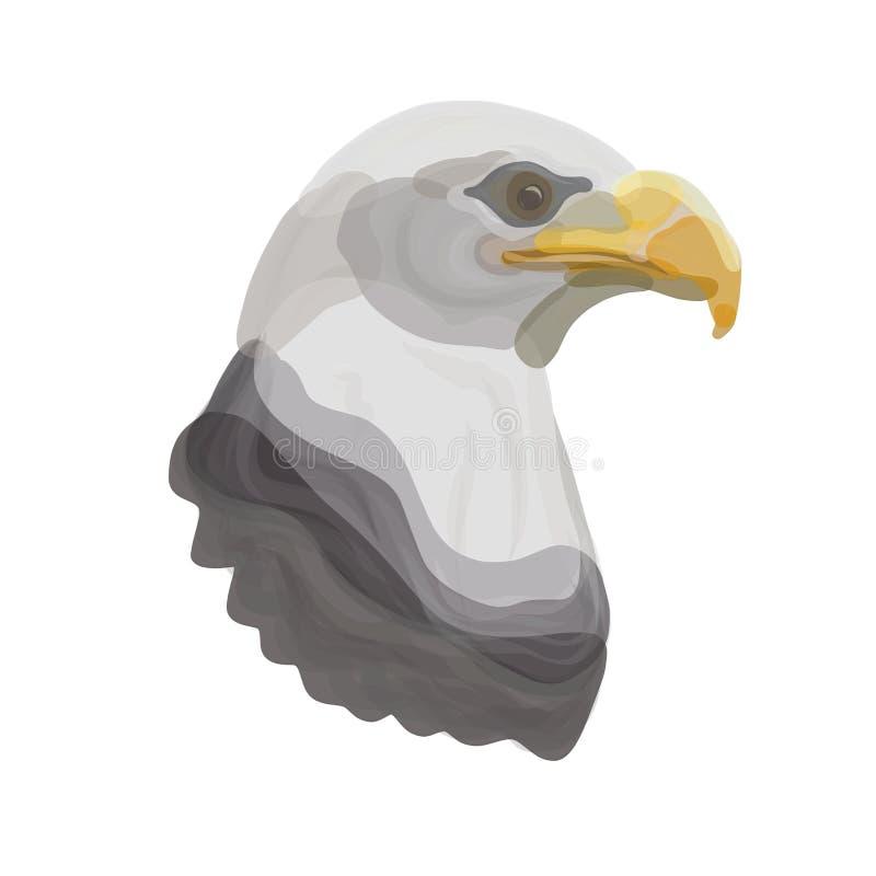 La cabeza de un águila potente, representada por los puntos transparentes libre illustration