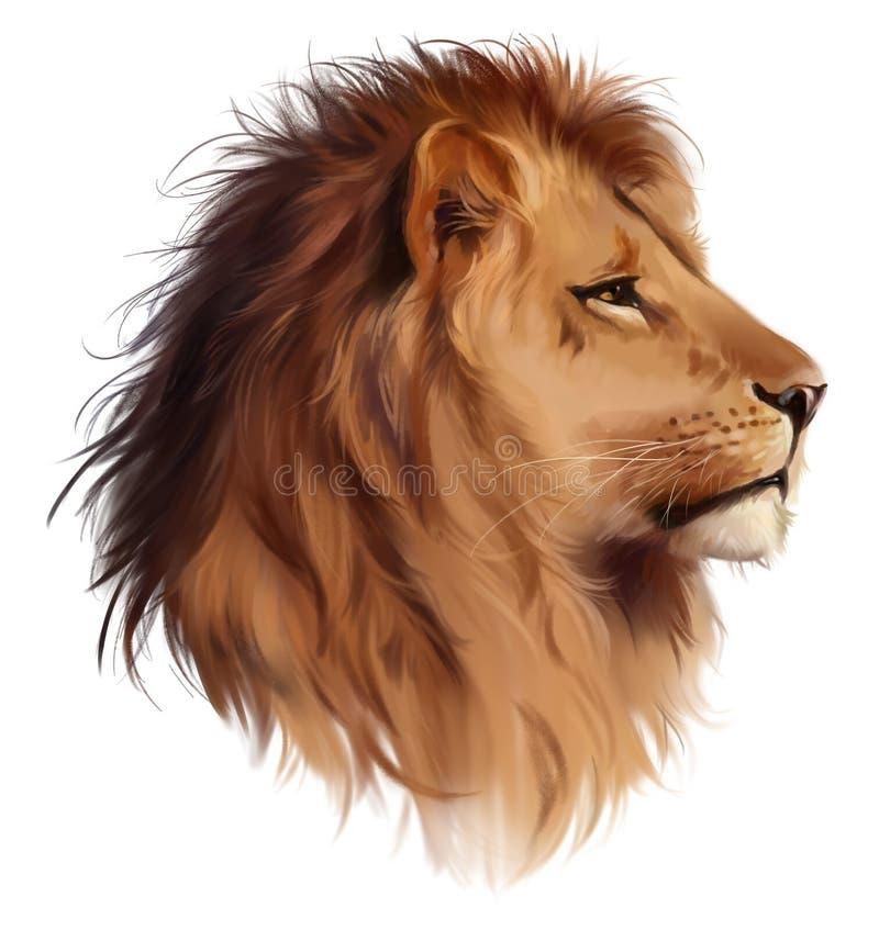La cabeza de un león ilustración del vector
