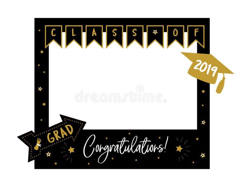 La cabina de la foto apoya el marco para la fiesta de graduaci?n stock de ilustración