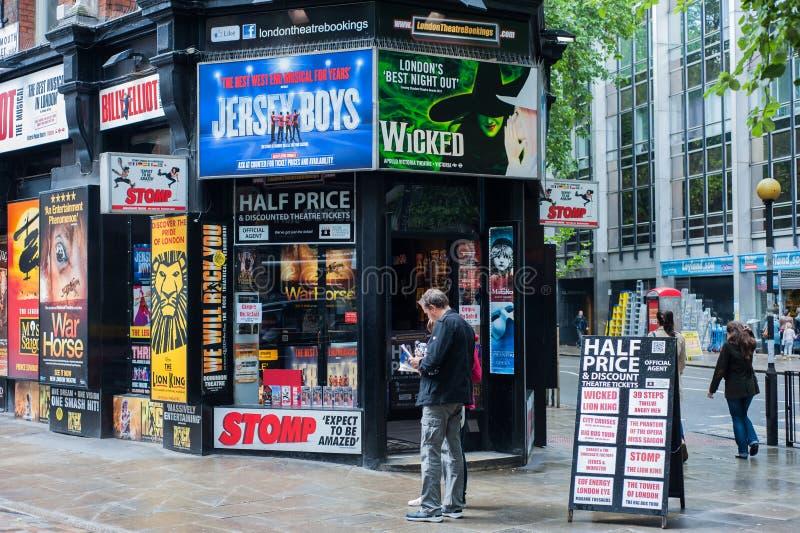 La cabina del biglietto musicale a Londra fotografia stock