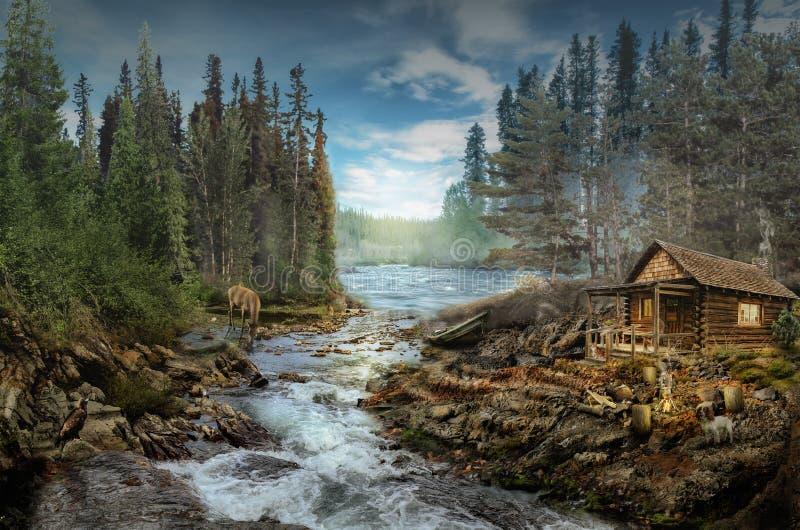 La cabina del silvicultor imágenes de archivo libres de regalías