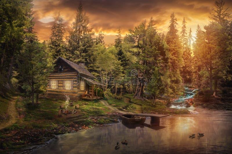 La cabina del silvicultor foto de archivo libre de regalías