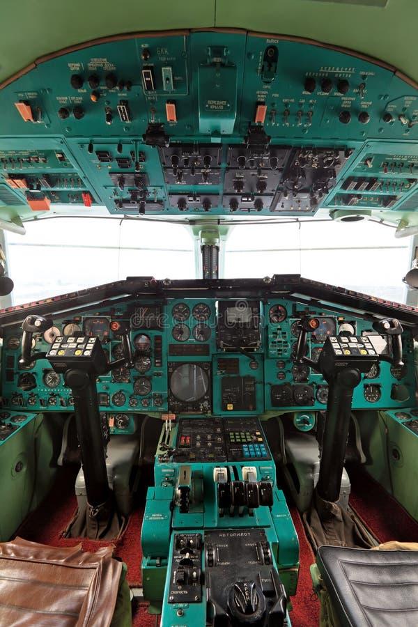 La cabina Tu-144 fotografía de archivo