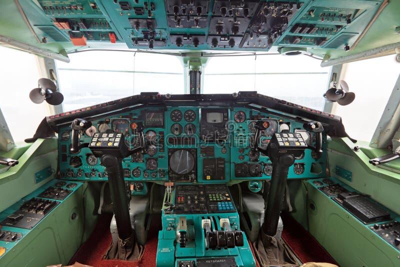 La cabina Tu-144 foto de archivo