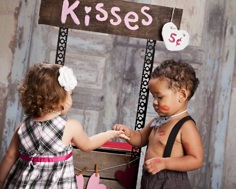 La cabine de baiser image stock