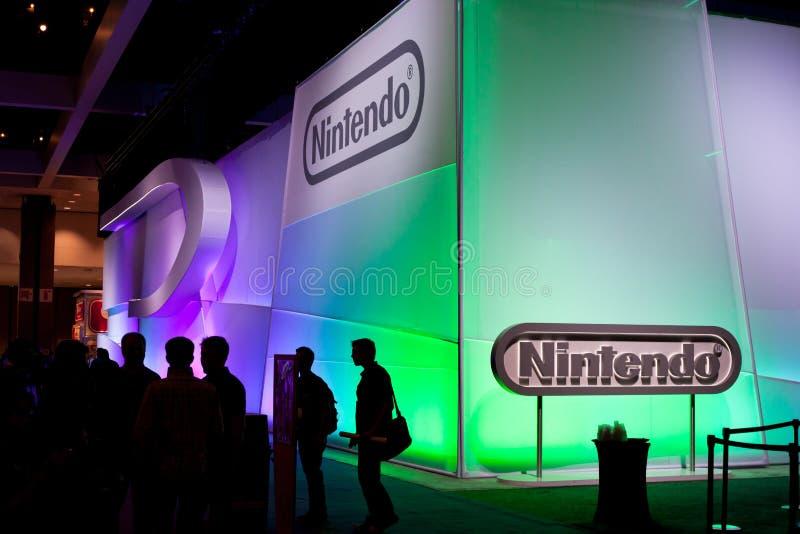 La cabine de Nintendo à E3 2011 photographie stock libre de droits