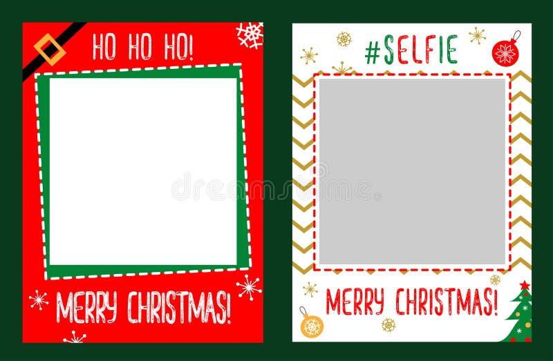 La cabine de photo étaye le cadre pour la fête de Noël illustration libre de droits