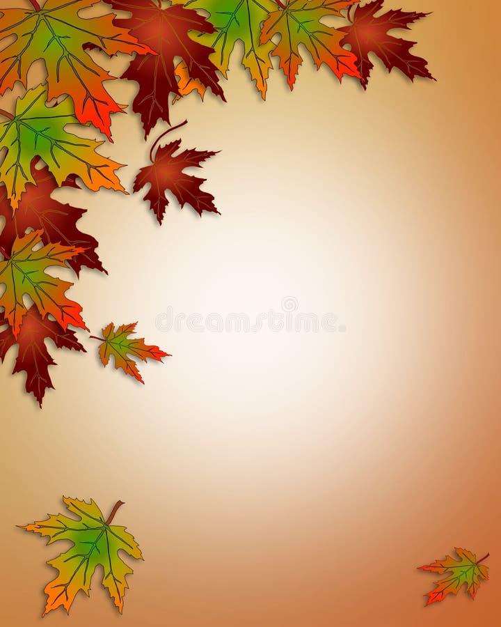 La caduta di autunno lascia il bordo illustrazione di stock