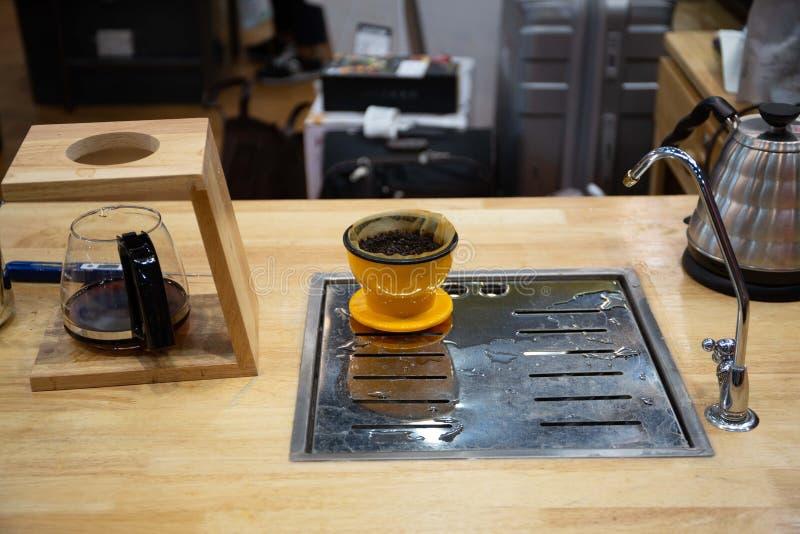 la cafetería puede hacer muchos tipos del café imagen de archivo libre de regalías
