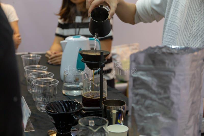 la cafetería puede hacer muchos tipos del café imágenes de archivo libres de regalías