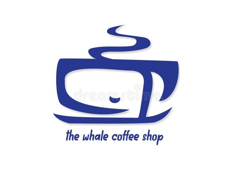 La caffetteria della balena fotografia stock libera da diritti