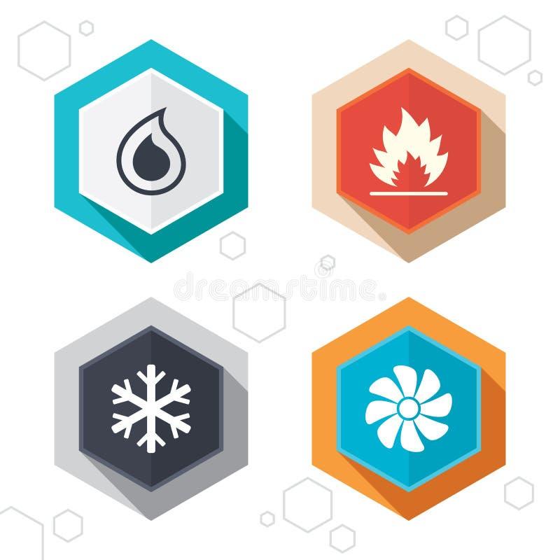 LA CAHT Chauffage, aérant et climatisation illustration stock