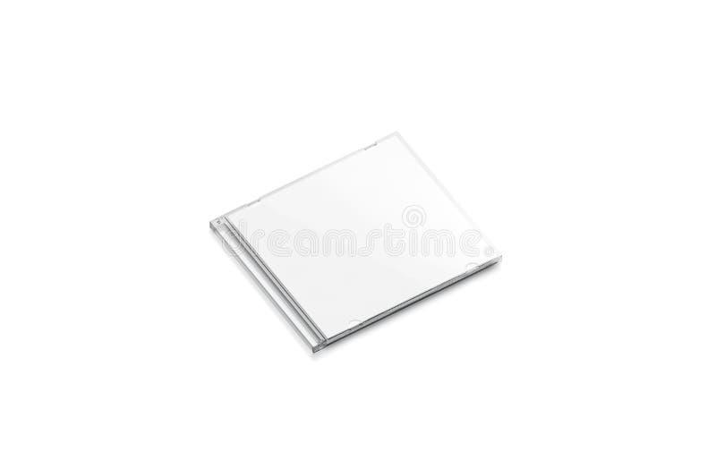 La caisse blanche de Cd de blanc a fermé la maquette, vue de côté, d'isolement illustration stock
