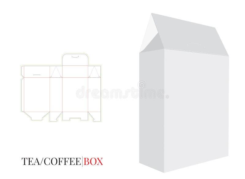 La caja del bolso del cartón, vector con cortado con tintas/el laser cortó capa libre illustration
