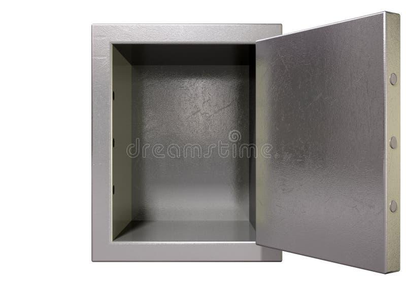 La caja fuerte abierta vacia fotografía de archivo