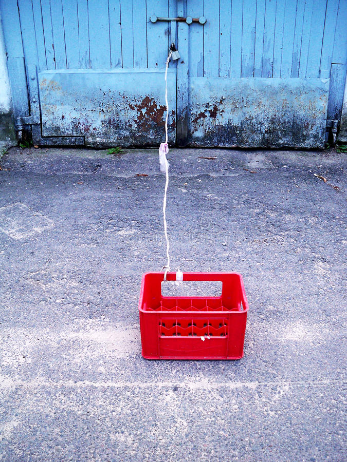 La caja roja fotografía de archivo libre de regalías